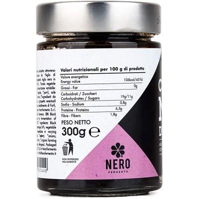 CREMA DI AGLIO NERO DI VOGHIERA, 100% ITALIANO VASETTO 300 GR.