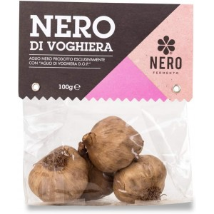 TESTE di AGLIO NERO DI VOGHIERA 100% ITALIANO CONFEZIONE  GR.100