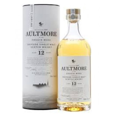 WHISKY AULTMORE SPEYSIDE SINGLE M. 12Y 46 CL.70 TUBO