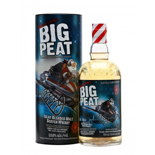 WHISKY BIG PEAT ISLAY 53,6% CL.70 TUBO CHRISTMAS ED.
