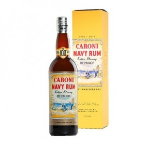 RHUM CARONI NAVY EXTRA STRONG 51,4% CL.70 VELIER