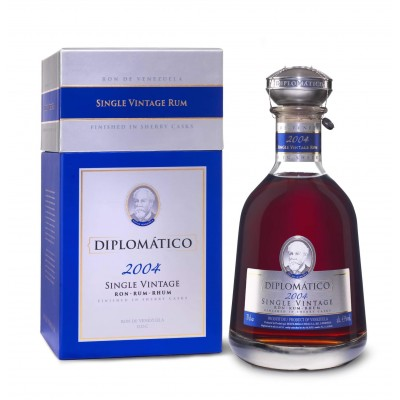 RHUM DIPLOMATICO SINGLE VINTAGE 2004 12Y 43% CL.70 -AST-
