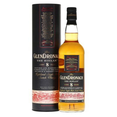 WHISKY GLENDRONACH 8Y THE HIELAN 46 CL.70 TUBO