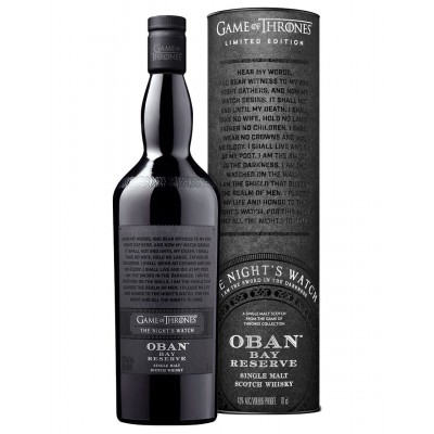 WHISKY G.O.T. OBAN BAY RESERVE 43% CL.70 THE NIGHT'S WATCH