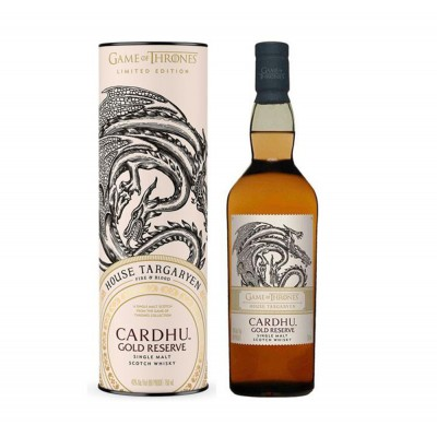 WHISKY G.O.T. CARDHU GOLD R. 40% CL.70 HOUSE TARGARYEN