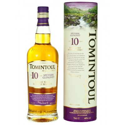 WHISKY TOMINTOUL 10Y 40% CL.70