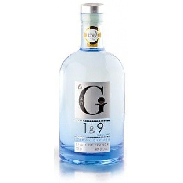 Gin 1  &  9 London Dry Spirit Of France
